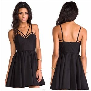 Cameo Black District Strappy Flare Party Dress